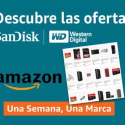 Esta semana en Amazon ofertas en tarjetas, pendrives y discos duros externos e internos Sandisk y WD. Listado completo de las 38 ofertas.